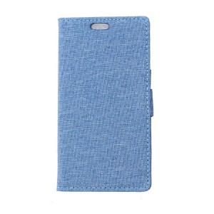 Чехол портмоне подставка на силиконовой основе с защелкой и тканевым покрытием для LG K5
