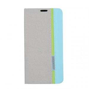 Текстурный чехол портмоне подставка на силиконовой подставке с отделением для карты для Samsung Galaxy A7 (2016) Серый