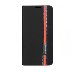Текстурный чехол портмоне подставка на силиконовой подставке с отделением для карты для Samsung Galaxy A7 (2016) Черный