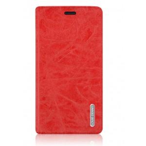 Винтажный чехол флип подставка на присоске для Asus Zenfone 2 Красный