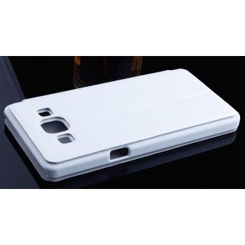 Чехол флип подставка на пластиковой основе для Samsung Galaxy A3