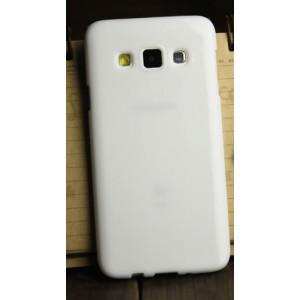 Глянцевый силиконовый непрозрачный чехол для Samsung Galaxy A3 Белый
