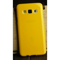 Глянцевый силиконовый непрозрачный чехол для Samsung Galaxy A3 Желтый