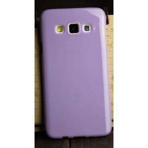 Глянцевый силиконовый непрозрачный чехол для Samsung Galaxy A3 Фиолетовый