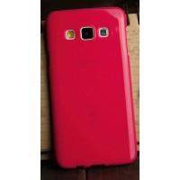 Глянцевый силиконовый непрозрачный чехол для Samsung Galaxy A3 Красный