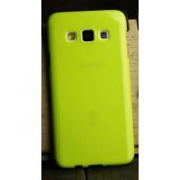 Глянцевый силиконовый непрозрачный чехол для Samsung Galaxy A3 Зеленый