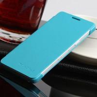 Чехол флип на пластиковой основе для Samsung Galaxy A3 Голубой