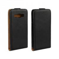 Чехол вертикальная книжка на пластиковой основе с магнитной застежкой для Samsung Galaxy A3 Черный