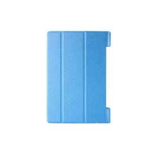 Чехол подставка сегментарный на поликарбонатной основе текстура Золото для Lenovo Yoga Tab 3 10 Синий