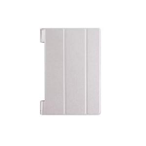 Чехол подставка сегментарный на поликарбонатной основе текстура Золото для Lenovo Yoga Tab 3 10 Белый