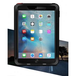 Эксклюзивный многомодульный ультрапротекторный пылевлагозащищенный ударостойкий чехол алюминиевый сплав/силиконовый полимер с закаленным защитным стеклом для планшета Ipad Pro 9.7 Черный