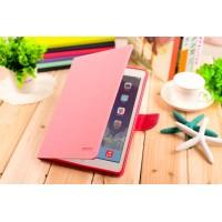 Чехол портмоне подставка на силиконовой основе с магнитной защелкой для Ipad Pro 9.7 Розовый