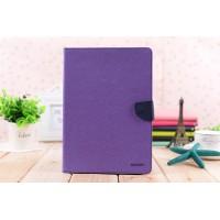 Чехол портмоне подставка на силиконовой основе с магнитной защелкой для Ipad Pro 9.7 Фиолетовый