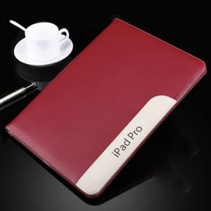 Чехол подставка с рамочной защитой экрана и внутренними отсеками для Ipad Pro 9.7 Красный