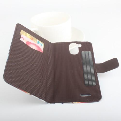 Чехол портмоне подставка на клеевой основе с защелкой с принтом для Ulefone Power