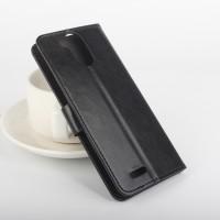 Глянцевый чехол портмоне подставка на клеевой основе с защелкой для Ulefone Power Черный