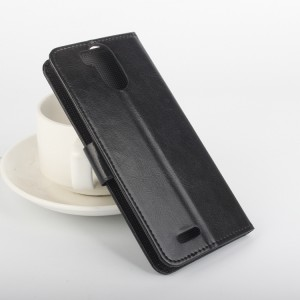 Глянцевый чехол портмоне подставка на клеевой основе с защелкой для Ulefone Power