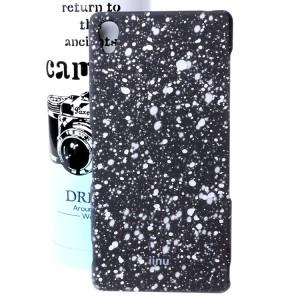 Пластиковый матовый дизайнерский чехол с голографическим принтом Звезды для Sony Xperia Z3 Белый
