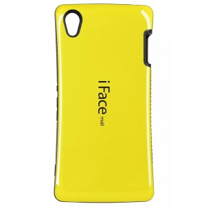 Силиконовый эргономичный непрозрачный чехол с нескользящими гранями для Sony Xperia Z3 Желтый