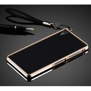 Металлический бампер для Sony Xperia Z3 Бежевый
