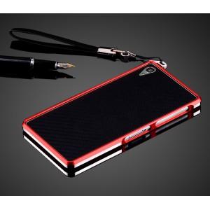 Металлический бампер для Sony Xperia Z3 Красный