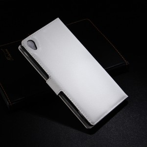 Чехол портмоне подставка с защелкой для Sony Xperia Z3 Белый