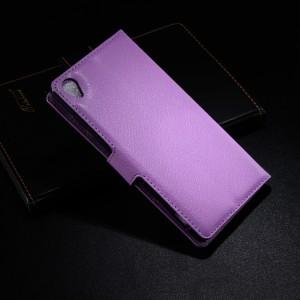 Чехол портмоне подставка с защелкой для Sony Xperia Z3 Фиолетовый