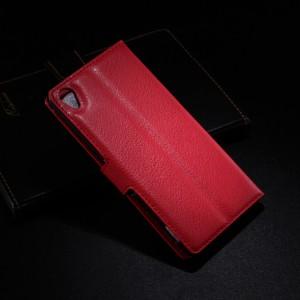 Чехол портмоне подставка с защелкой для Sony Xperia Z3 Красный