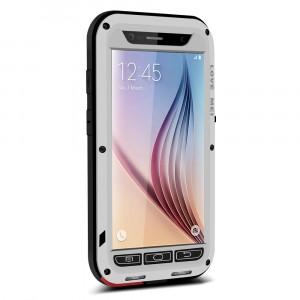 Эксклюзивный многомодульный ультрапротекторный пылевлагозащищенный ударостойкий нескользящий чехол алюминиево-цинковый сплав/силиконовый полимер для Samsung Galaxy S6