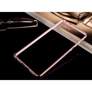 Металлический бампер с золотой окантовкой для Samsung Galaxy Core 2