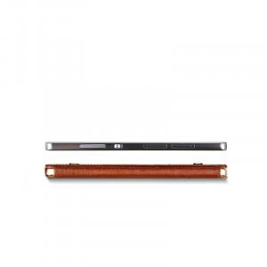 Вощеный кожаный чехол кобура для Samsung Galaxy S6 Коричневый