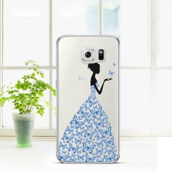 Силиконовый матовый дизайнерский чехол с эксклюзивной серией принтов для Samsung Galaxy S6