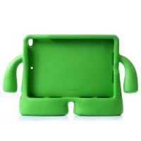 Детский ультразащитный гиппоаллергенный силиконовый фигурный чехол для планшета Ipad Air 2 Зеленый