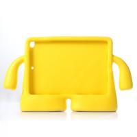 Детский ультразащитный гиппоаллергенный силиконовый фигурный чехол для планшета Ipad Air 2 Желтый