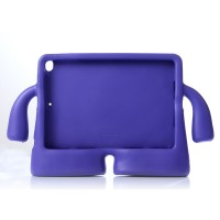 Детский ультразащитный гиппоаллергенный силиконовый фигурный чехол для планшета Ipad Air 2 Фиолетовый