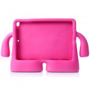 Детский ультразащитный гиппоаллергенный силиконовый фигурный чехол для планшета Ipad Air Пурпурный