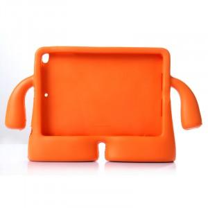 Детский ультразащитный гиппоаллергенный силиконовый фигурный чехол для планшета Ipad Air Оранжевый
