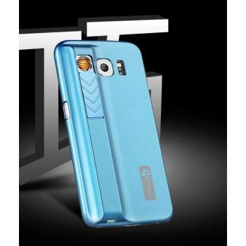 Пластиковый матовый чехол со встроенным прикуривателем для Samsung Galaxy S6