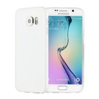 Силиконовый матовый непрозрачный экстратонкий чехол для Samsung Galaxy S6 Белый