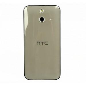 Силиконовый транспарентный чехол для HTC One E8 Черный