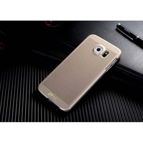 Пластиковый матовый непрозрачный чехол текстура Точки для Samsung Galaxy S6