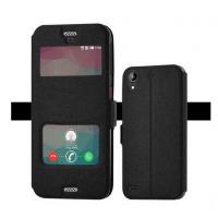 Чехол флип подставка на силиконовой основе с окном вызова и свайпом для HTC Desire 530/630 Черный