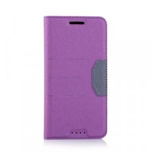 Текстурный чехол флип подставка на силиконовой основе с дизайнерской застежкой с отделением для карты для HTC Desire 530/630