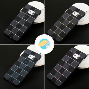 Пластиковый матовый непрозрачный чехол со сменными вкладышами для Samsung Galaxy S6