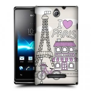 Пластиковый чехол с принтом Столицы для Sony Xperia E dual Париж