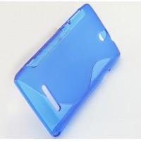 Силиконовый S чехол для Sony Xperia E dual Голубой