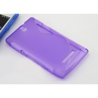 Силиконовый S чехол для Sony Xperia E dual Фиолетовый