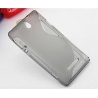 Силиконовый S чехол для Sony Xperia E dual Серый