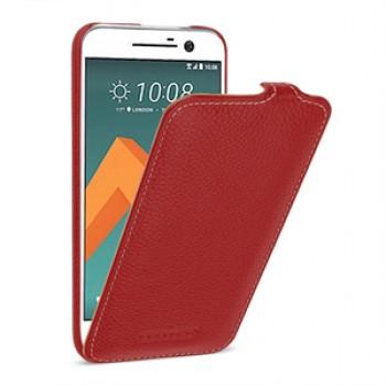 Кожаный чехол вертикальная книжка (премиум нат. кожа) для HTC 10