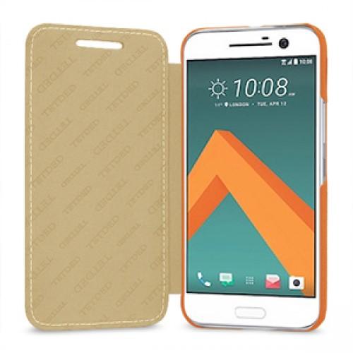 Кожаный чехол горизонтальная книжка (премиум нат. кожа) для HTC 10